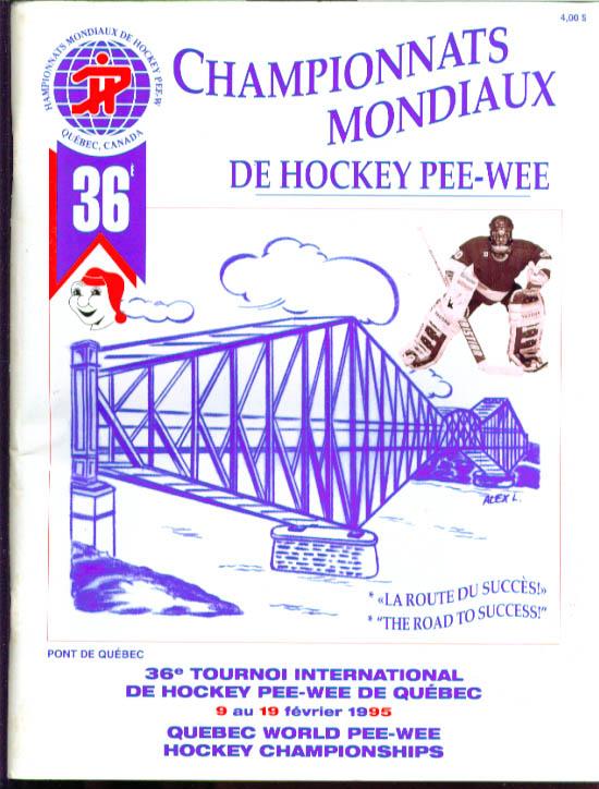 Pee-Wee Hockey World Championship program Quebec 1995