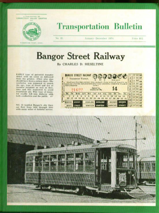 Image for Bangor Street Railway TRANSPORTATION BULLETIN #81
