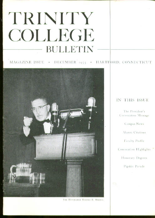 Judge Medina ++ TRINITY COLLEGE BULLETIN 12 1955