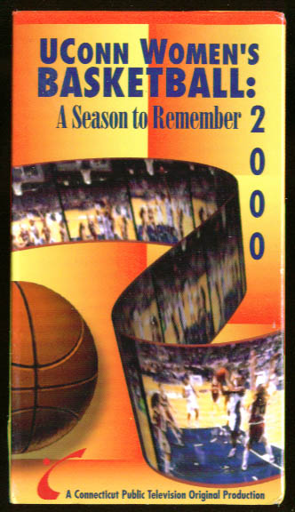 UConn Women's Basketball Season to Remember 2000 VHS