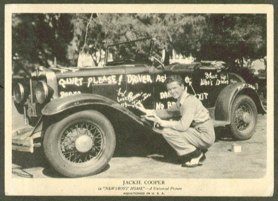 Jackie Cooper in Newsboys' Home aquatone print 1938