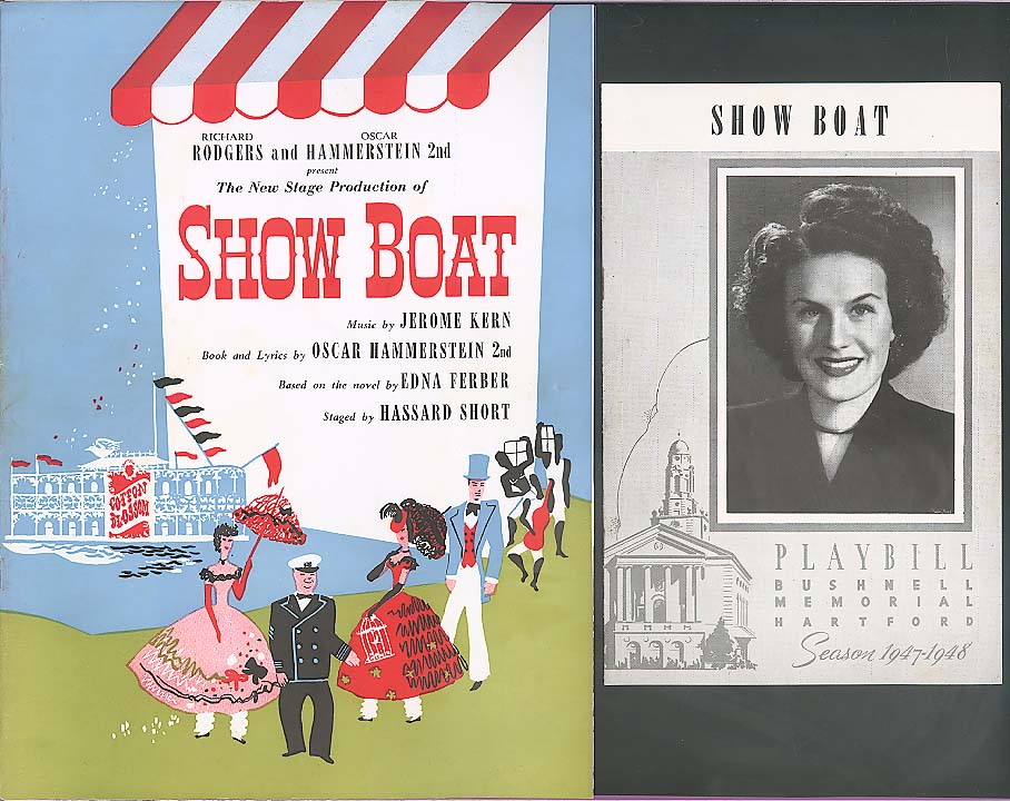 House & Vaveness Show Boat program & Prompter 1947