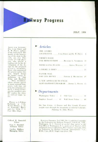 Atomic Loco Ft Dodge Des Moines Railway Progress 7 1954