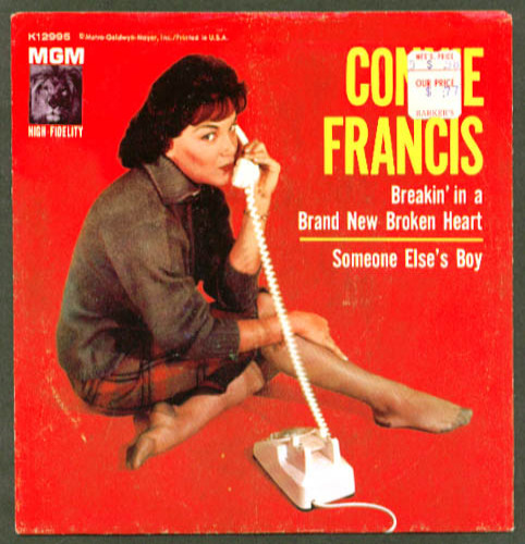 Connie Francis Breakin' in Brand New Broken Heart 45rpm
