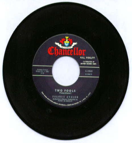Image for Frankie Avalon Two Fools / Just Ask Your Heart 45rpm