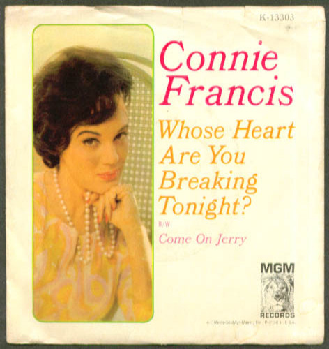 Connie Francis Whose Heart Are You Breaking Tonight? 45