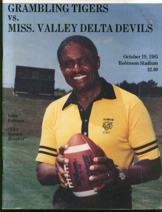 Image for Grambling Tigers v Mississippi Valley Delta Devils Football program 1985