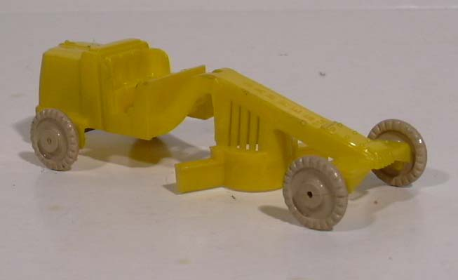 Banner #3 yellow plastic road grader 1950s