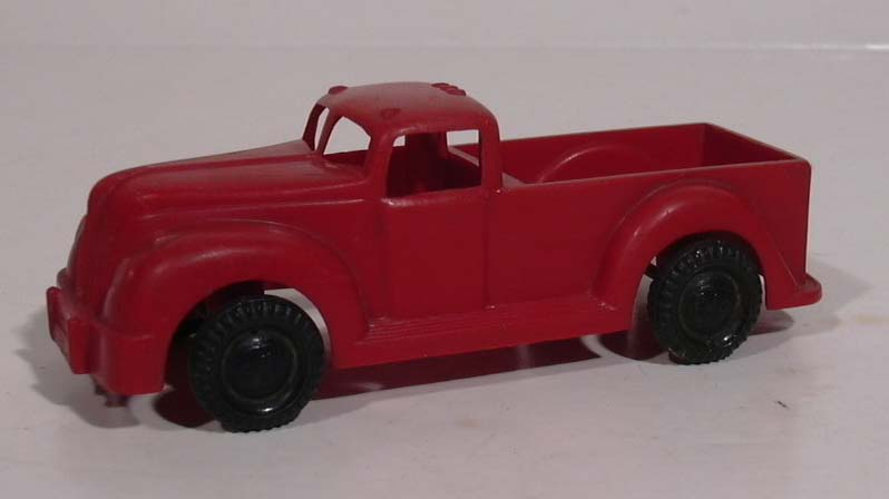 Ideal #7 red plastic 1940s Ford Pickup