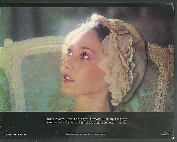 Marisa Berenson in Barry Lyndon lobby card 1975