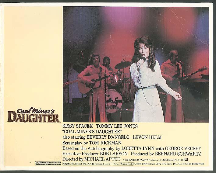 Image for Sissy Spacek singing Coal Miner's Daughter lobby card 1980