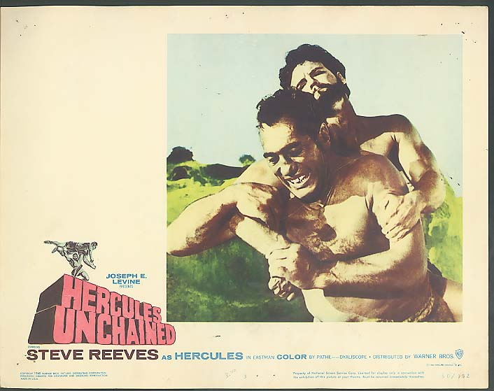 Image for Steve Reeves in Hercules Unchained lobby card 1960