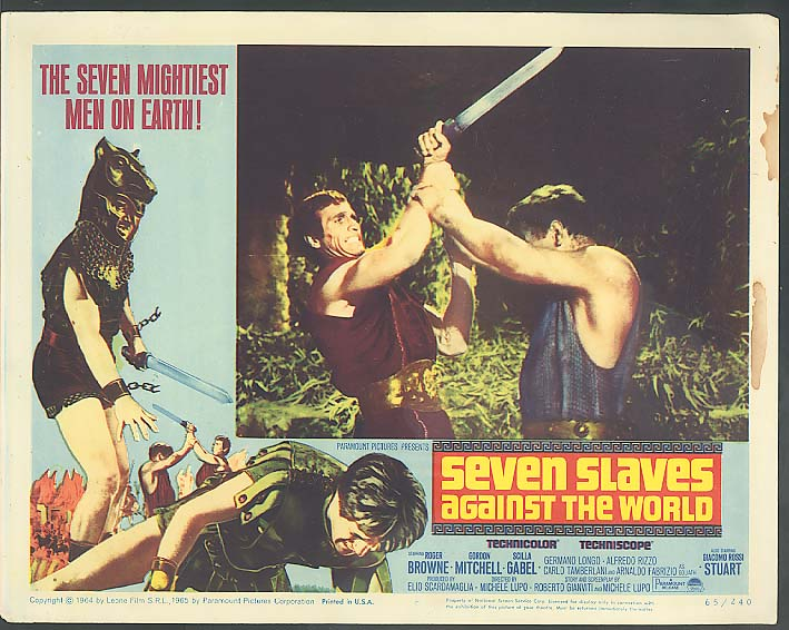 Image for Seven Slaves Against the World lobby card 1965