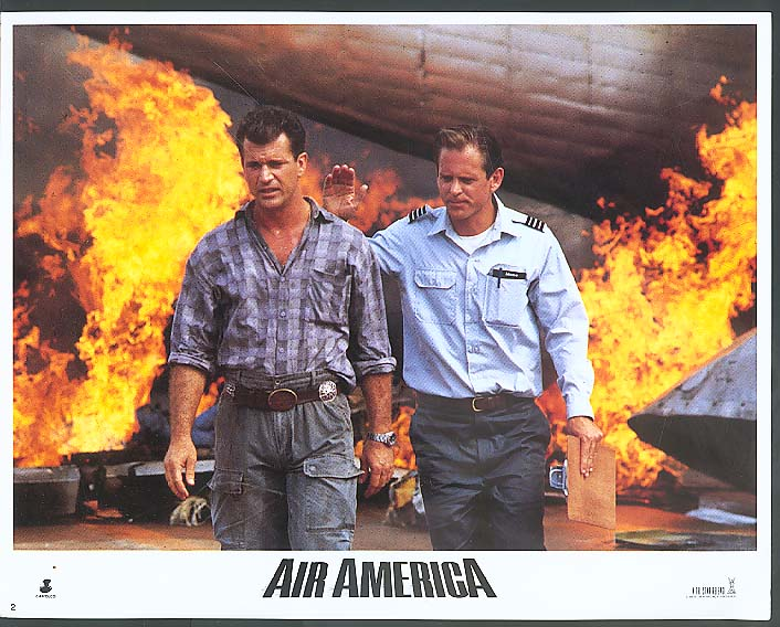 Image for Mel Gibson in Air America lobby card 1990