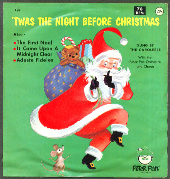 Image for Twas the Night Before Christmas Peter Pan 78rpm 1962
