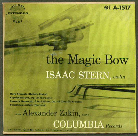 Isaac Stern The Magic Bow 45rpm record
