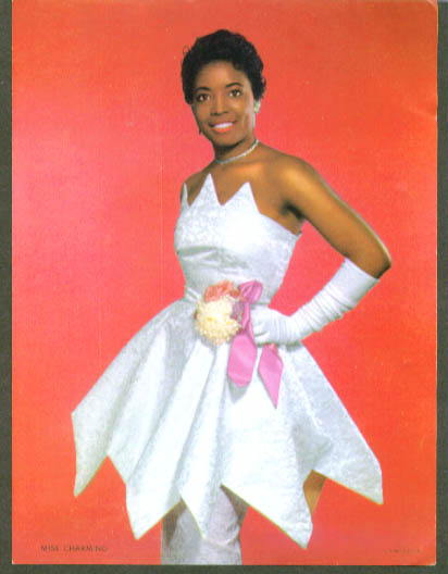 "Negro calendar sample insert ""Miss Charming"" ca 1957"