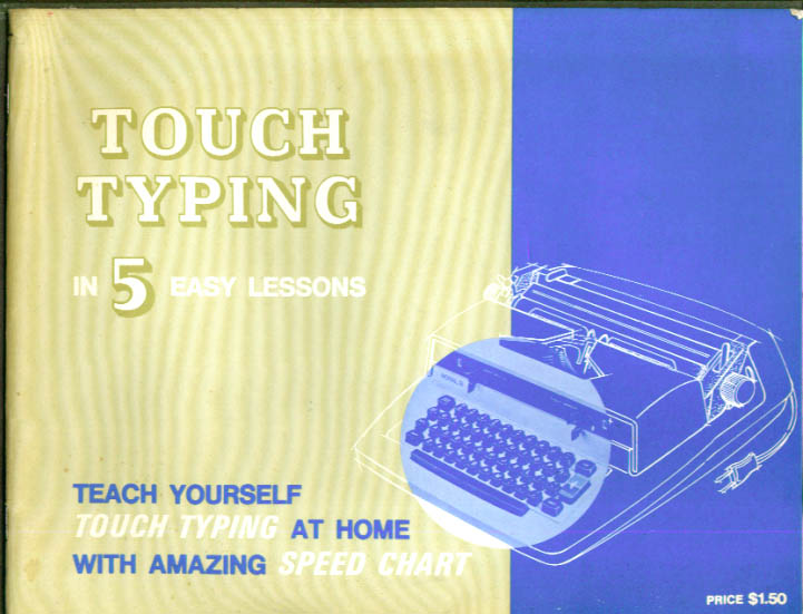 Royal Touch Typewriting in 5 Easy Lessons booklet 1969
