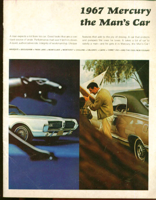 1967 Mercury Cougar Marquis Cyclone S-55 + Catalog