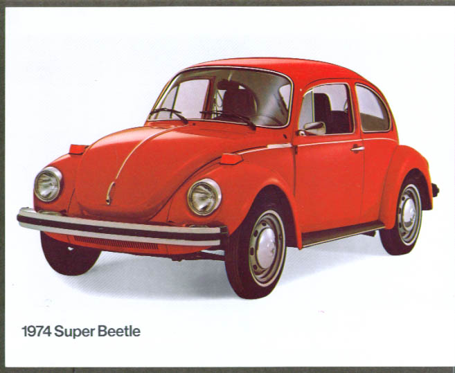 1974 Volkswagen Super Beetle sell sheet