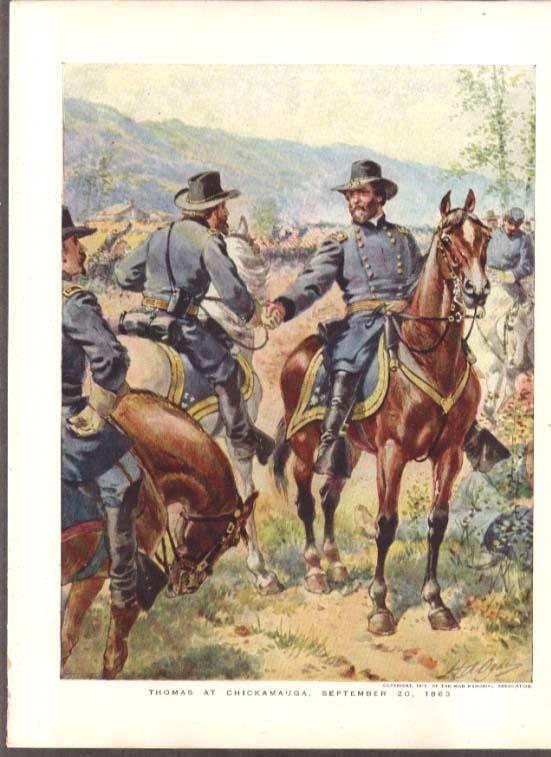 1863 Thomas at Chickamauga Ogden Prang color plate 1912