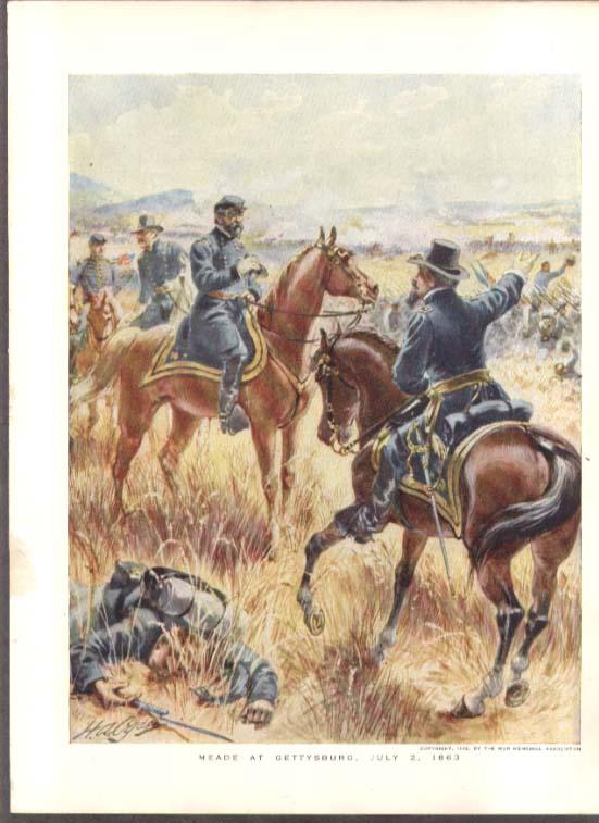 1863 Meade at Gettysburg Ogden color plate 1912