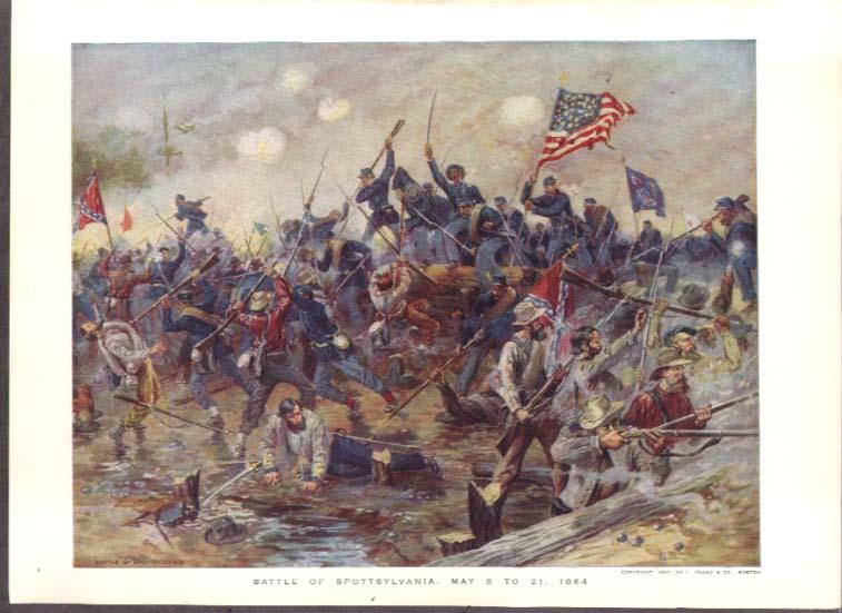 1864 Battle of Spottsylvania Prang color plate 1887