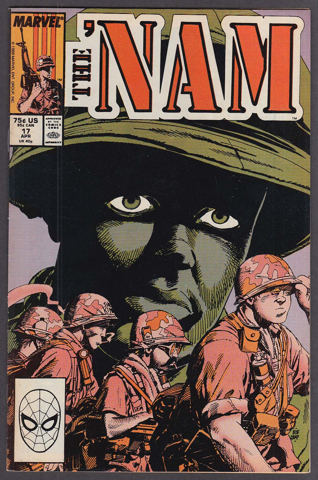 THE 'NAM #17 Marvel comic book 4 1988