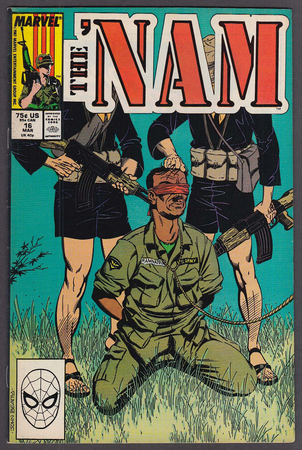 THE 'NAM #16 Marvel comic book 3 1988
