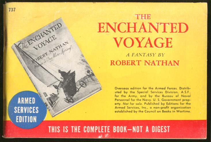 ASE 737 Robert Nathan: Enchanted Voyage Armed Services Ed