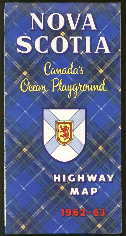 Nova Scotia Official Highway Road Map 1962-1963