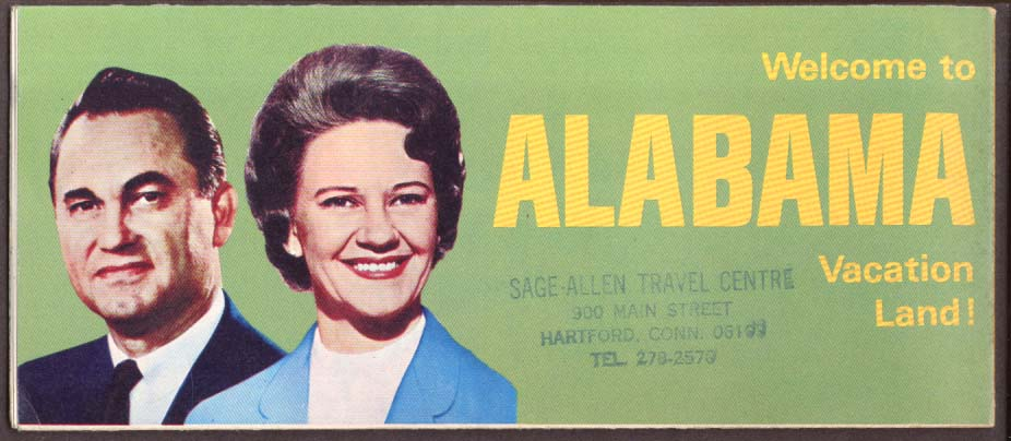 Alabama Road Map 1967-1968 George & Lurleen Wallace
