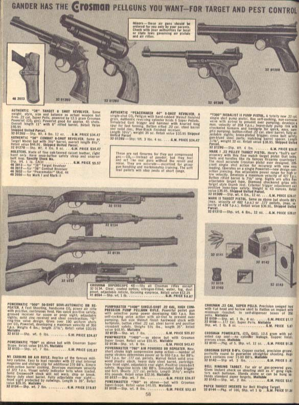 Gander Mountain Sportsmans Supplies catalog Spring 1974
