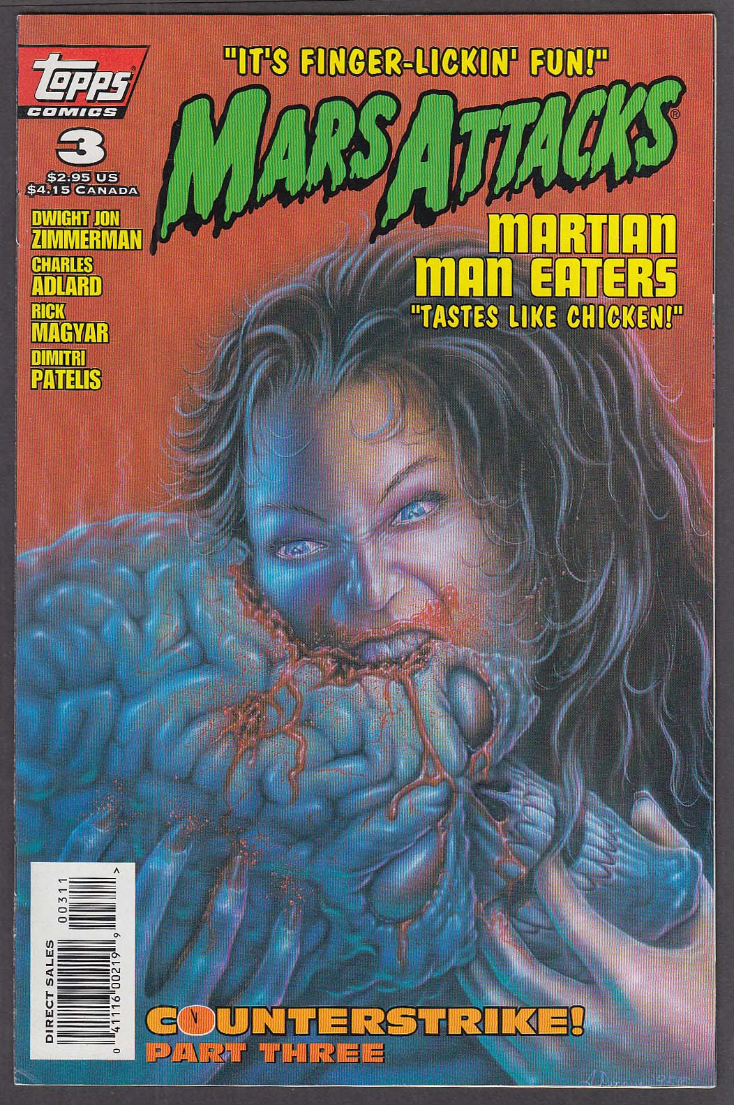 MARS ATTACKS Vol 2 #3 Topps comic book 10 1995 Counterstrike Part 3