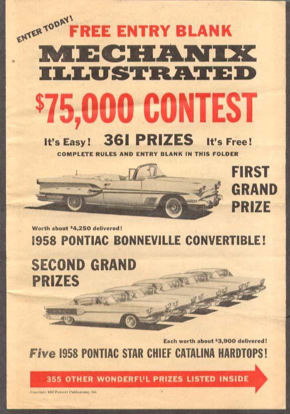 1958 Pontiac Bonneville Mechanix Illustrated contest entry