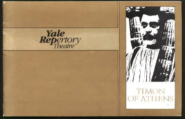 James Earl Jones Timon of Athens Yale Rep program 1980