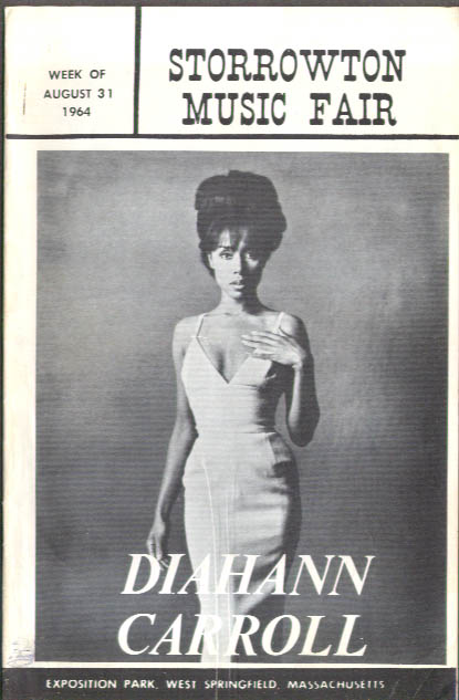 Diahann Carroll No Strings Storrowton Music Fair program 1964