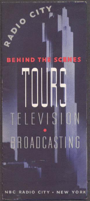 Radio City TV Broadcasting Tours folder 1950s