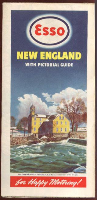 Esso Gasoline Road Map New England 1947