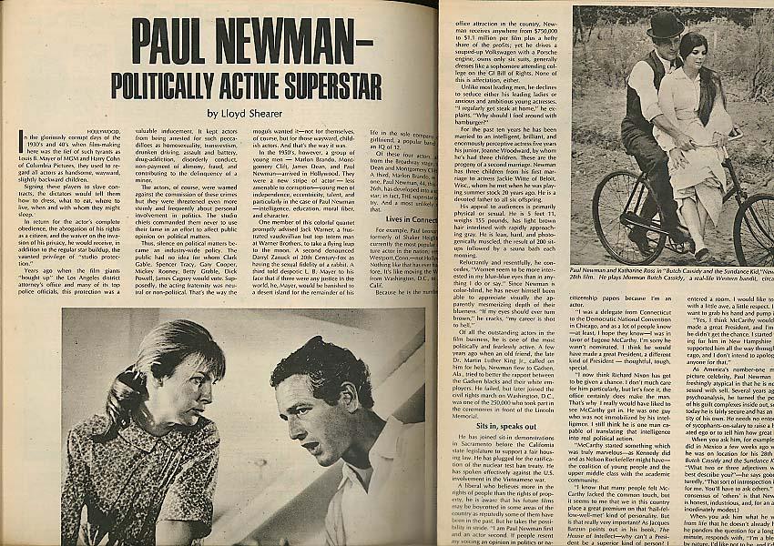 PARADE Paul Newman; NFL broken bones threat 1/5 1969
