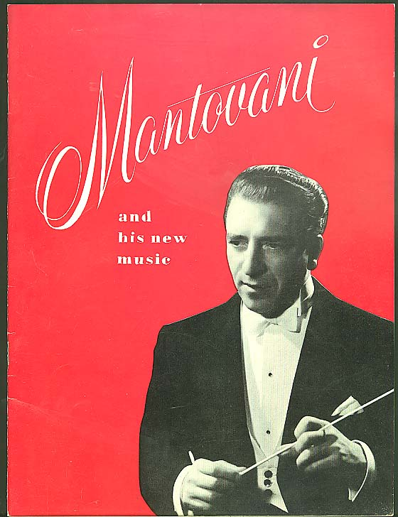 Mantovani & His New Music souvenir concert program 1956
