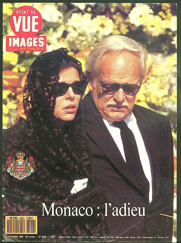 Princess Caroline & Prince Rainier bid Grace adieu IMAGES du MONDE 10/11 1990