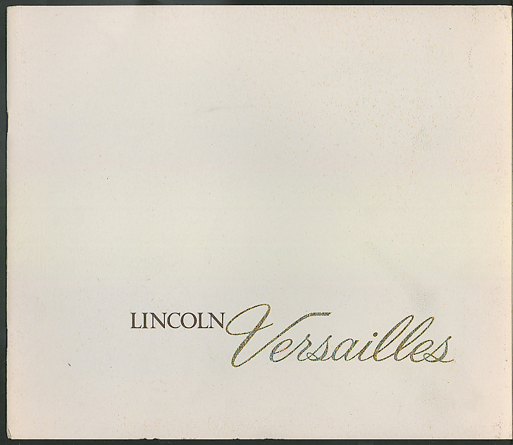 1977 Lincoln Versailles sales brochure