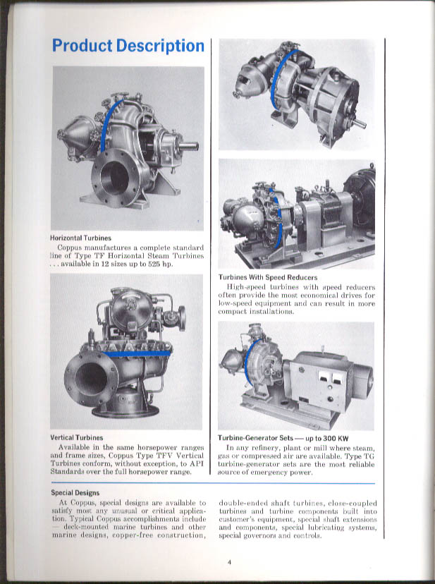 Coppus Single-Stage Mechanical-Drive Turbines Catalog 200 1971