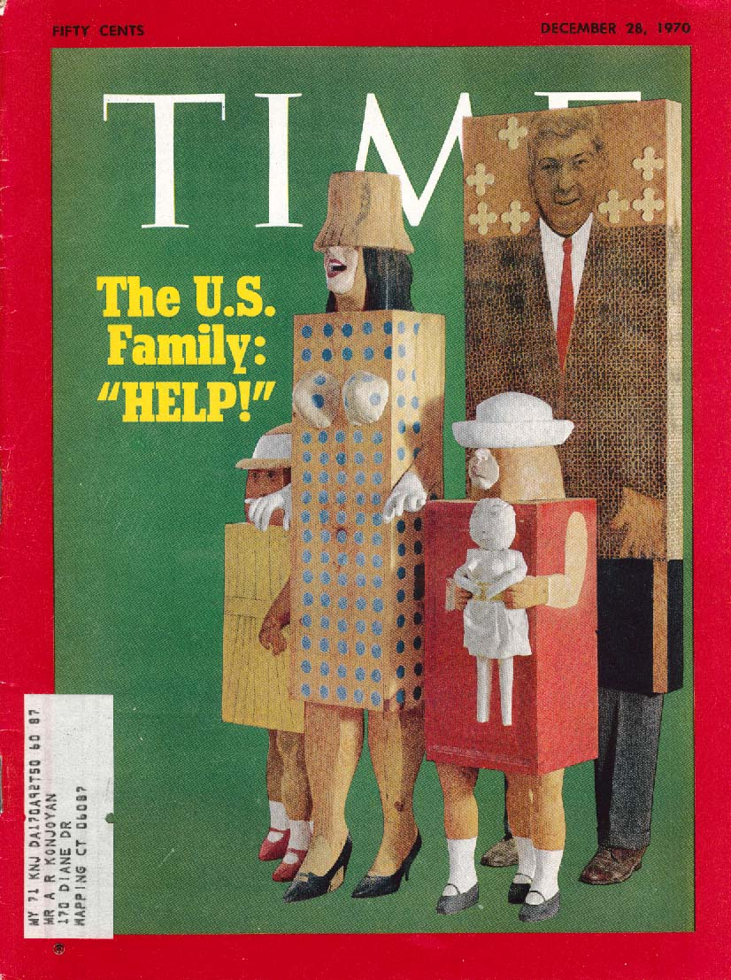 TIME Polish Riots American Family Womens Lib 12/28 1970 Marisol cover