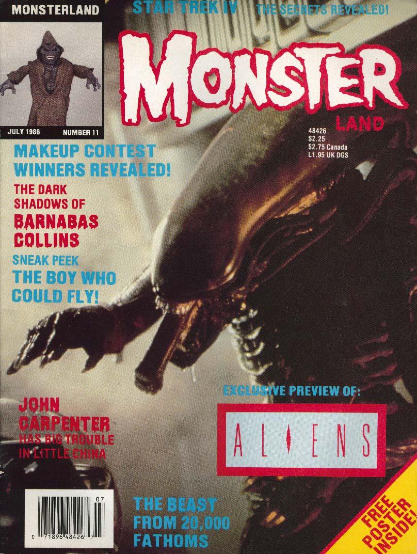 MONSTER LAND #11 Aliens Star Trek IV John Carpenter 8 1986