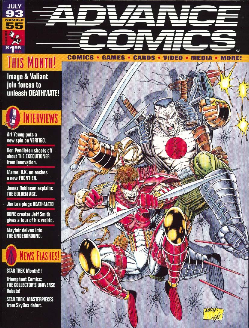 ADVANCE COMICS 55 Don Pendleton Jeff Smith Jim Lee 1993
