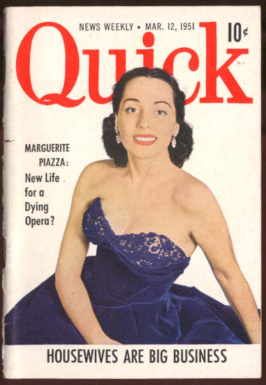 QUICK Marguerite Piazza saves opera 3/12 1951
