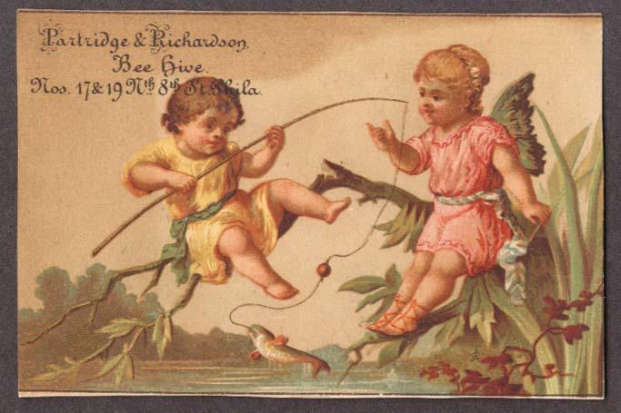 Image for Partridge & Richardson Phila trade card kids fishing