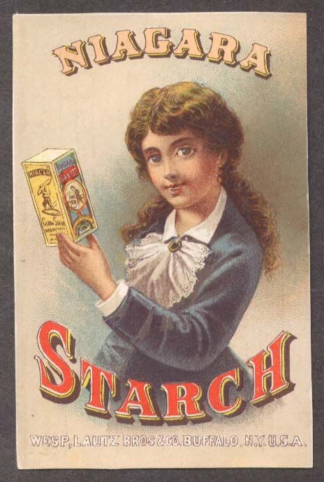 Image for Niagara Starch Henry Grocer Greenfield MA trade card